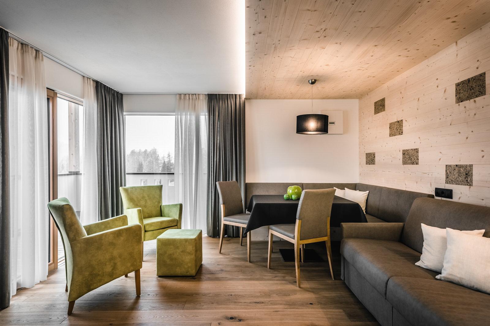 Wohnzimmer Apartment Alpin