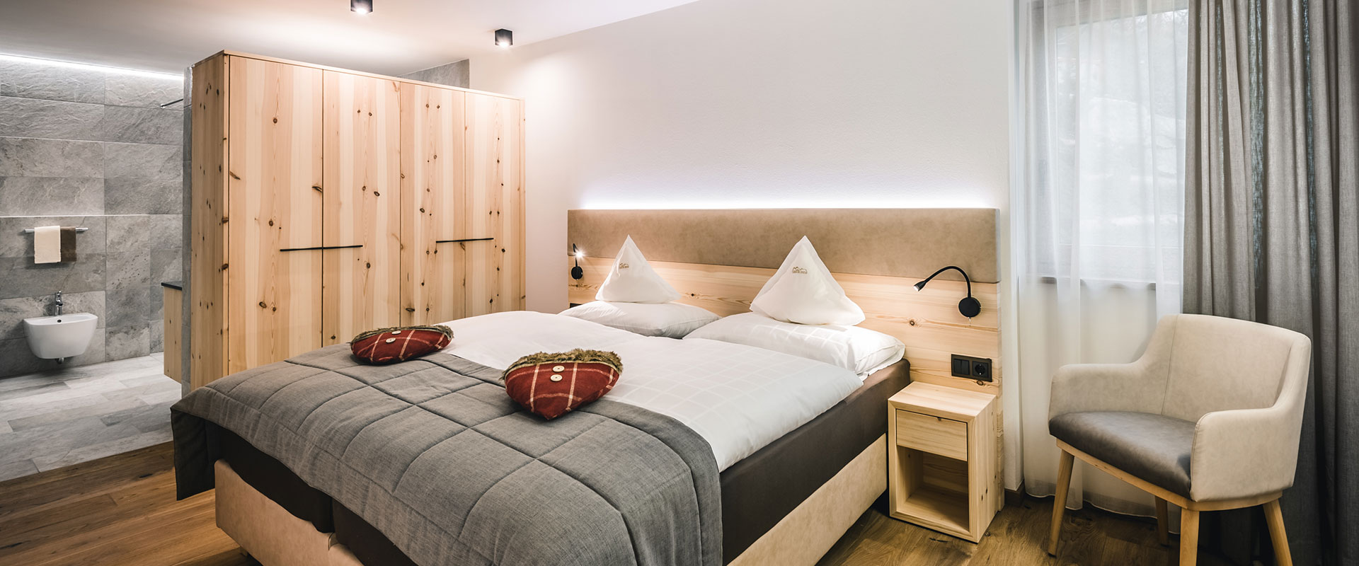 Apartment Barantl Schlafzimmer Colfosco